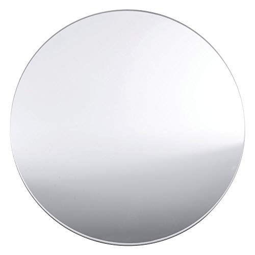 Kinger Home Round Mirror Tray Centerpiece Mirror Wedding Decorations Party Décor Candle Tray 10 inch Round Mirror Plate Center Piece Set of 12 for Home Décor Wedding Baby Shower Parties