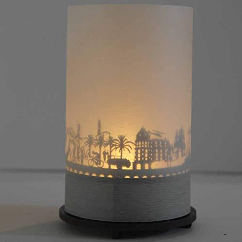 13gramm Nizza-Skyline Windlicht Schattenspiel Premium Geschenk-Box Souvenir, inkl. Kerzenhalter, Kerze, Projektionsschirm und Teelicht