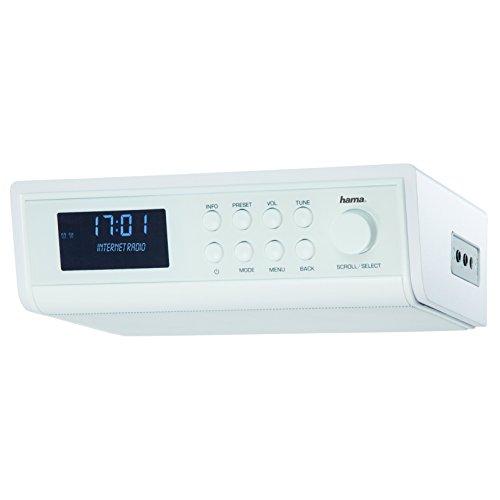 Hama IR320 Internetradio (ideal für Küche und Werkstatt, als Unterbauradio oder mit Standfunktion verwendbar, Weckfunktion und WLAN) weiß