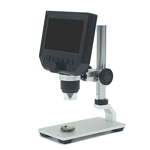 Fxhan Portable LCD Display Digital Microscope 3.6MP 1080P Video Camera 600X Continuous Magnification Zoom with Bracket