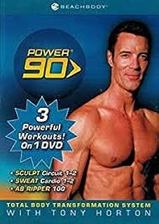 Beachbody -- Power 90 -- Tony Horton -- 3 Wktouts -- 1 DVD -- Includes AB Ripper 100 -- Sweat Cardio 1-2 -- Sculpt Circuit 1-2