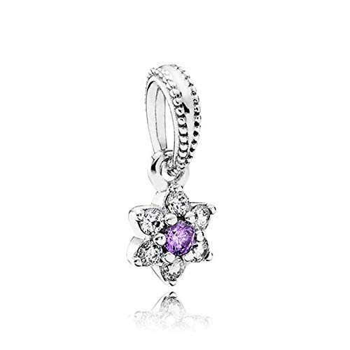 LILANG Pandora 925 Jewelry Bracelet Natural Authentic Sterling Silver Bead No me Olvides Colgante Charm Fit Fashion Pan Bangle Adecuado para Mujeres DIY Gift