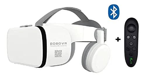 Óculos Realidade Virtual Bluetooth Vr C/ Controle Sem Fio