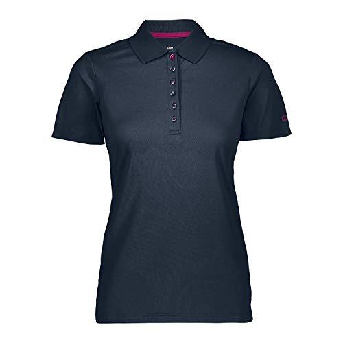 CMP 3t59676 Polo T-shirt,Femme-bleu (B Blue/Geraneo)-46 (Taille Fabricant: XXL)