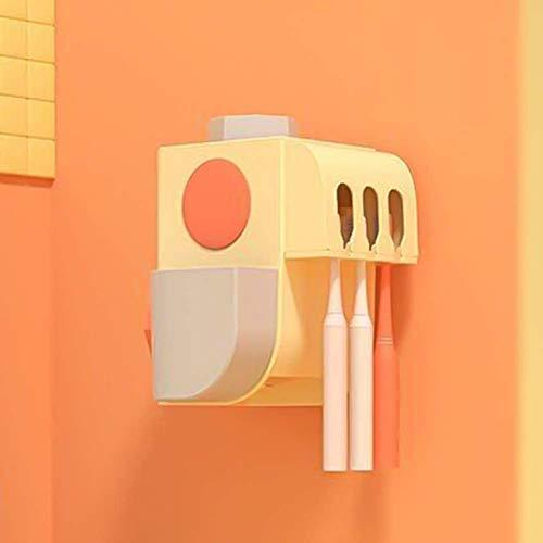 Tandenborstelhouder elektrische tandenborstel Sanitizer wandmontage met sterilisator Function, tandenborstel Organizer for baby Familie, Geel 8bayfa
