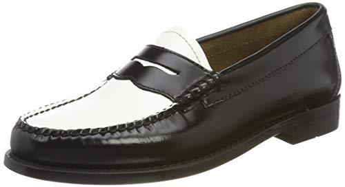 G.H. Bass & Co. Penny, Mocassins, Multicolore (Black & White Leather 001), 35 EU