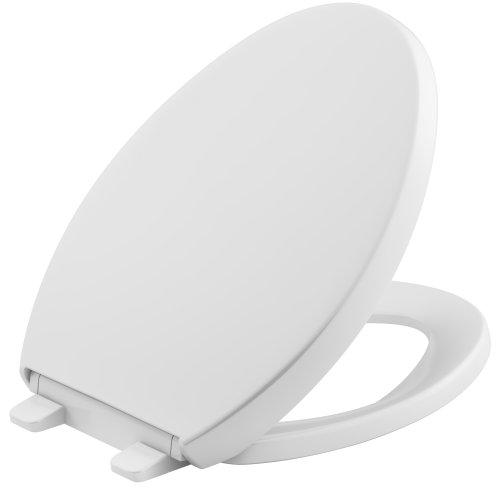 Kohler Grip-Tight Reveal Q3 - Asiento para inodoro, Elongated Toilet Seat, Blanco