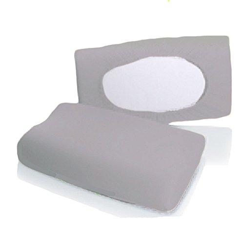 Bellana Gesundheitskissen Bezug Mako Jersey 30-50 x 40-80 cm und 8-15 cm Höhe cm Farbe: Silber