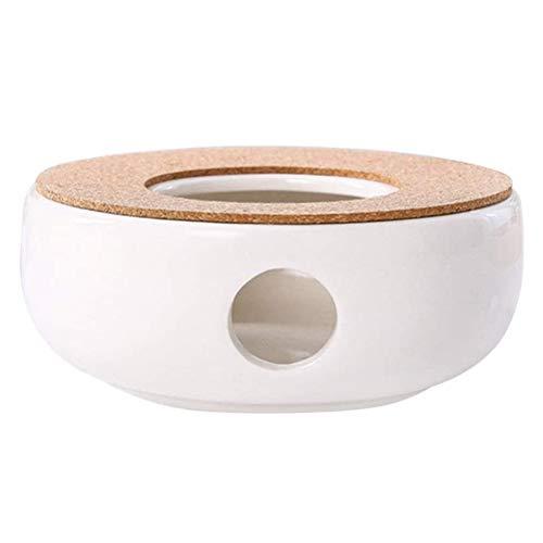 Jackallo Teekannenheizung, weißer Warmer Teekocher Keramik Porzellan Heizofen Wärmer Kerzenheizung Keramik weiße Teekannenheizung
