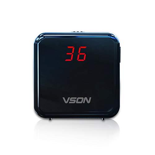 VSON Portable Air Quality Monitor PM2.5 Detektor mit Akku für Home Office Schule Krankenhaus oder Outdoor Auto Professionelle Lasersensor Detektor