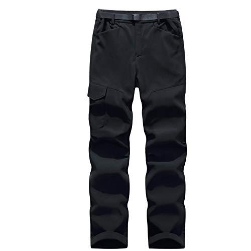 O&K Soft Shell Hommes Polaires Doublé Randonnée Pantalons Outdoor imperméable Respirant Épaissir autumnwinter Pantalon d'escalade Chaud de Marche,A1,L