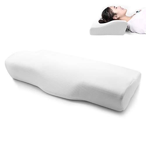 Sleepexi Orthopädisches Kopfkissen - Nackenstützkissen mit druckausgleichendem Memory-Foam, ergonomisches Schlafkissen gegen Nackenschmerzen, atmungsaktiv & hypoallergen