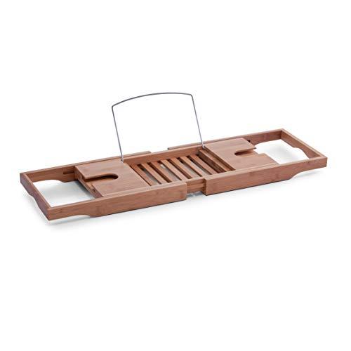Zeller 13606 Badewannenablage, Bamboo/Metall verchromt