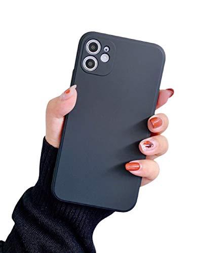 VUTR Funda de Silicona con Bordes Cuadrados para iPhone 11 [Protector de Lentes Integrado] Funda Delgada antigolpes Elegante de diseño avanzado para iPhone 11 - Negro