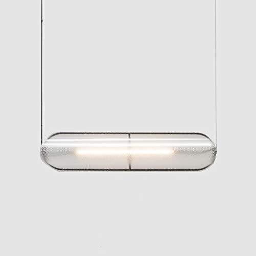 Pointhx Lámpara de techo con diseño danés nórdico con 1 luz LED de tubo largo de PVC, lámpara colgante para sala de estar, cocina, isla, iluminación interior