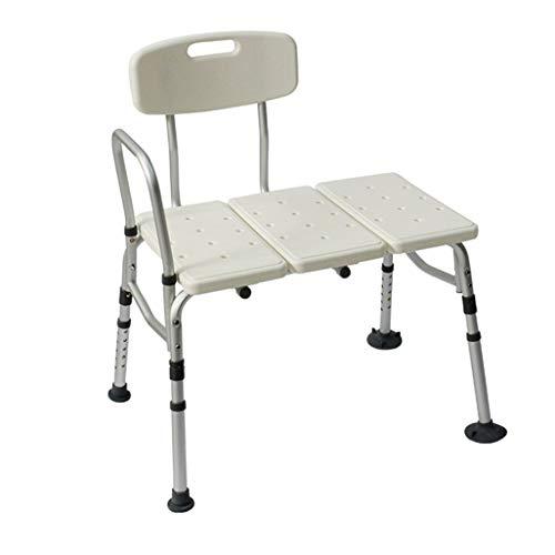 JJYGONG Doccia/da Bagno Sgabelli da Bagno Sgabelli in Lega Di Alluminio Sedia Sedile Sedia per Aiuto per Disabilità Sedia da Doccia Altezza Regolabile per Anziani/Disabili/Donne