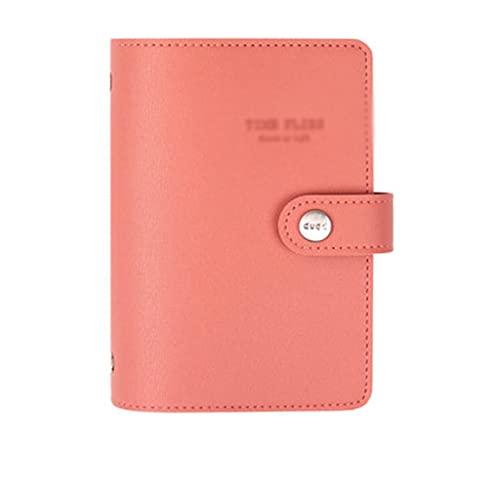 ZNZNN Cuaderno De Hojas Sueltas Diario Portátil Simple Y Moderno Plan Multifuncional Cuaderno De Bolsillo Papelería Regalo Regalo Cuaderno Multifuncional (Color : E)