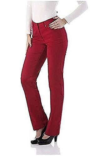 CORLEY Jeans Damen Five Pocket Kurzgröße - Rot Gr. 19