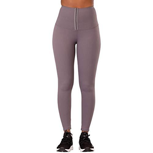 Leggings de Cintura Alta para Mujer | Leggings con Control de Barriga opacos, elásticos, Suaves y mantecosos | Entrenamiento Gimnasio Yoga Pantalones elásticos | Gris, Tamaño: 36