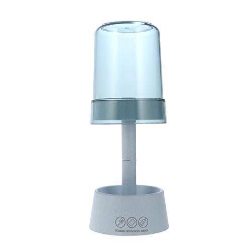 Cabilock Portaspazzolino multifunzione a forma di lampada, 1 pezzo, di colore azzurro