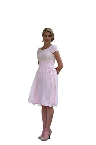 Isabel Modest Dress in Light Pink