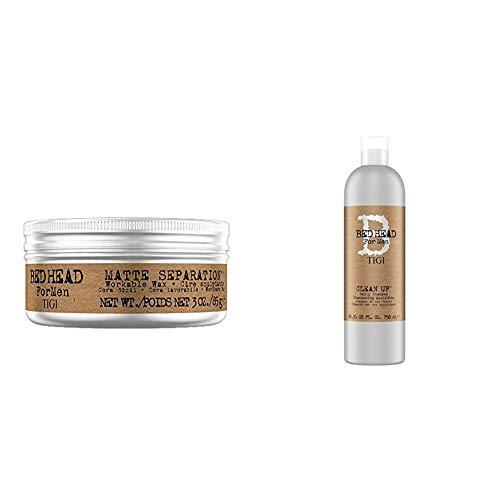 Tigi Matte Separation Cera Lavorabile, 85 g + Bed Head Clean Up, Shampoo ad Uso Quotidiano