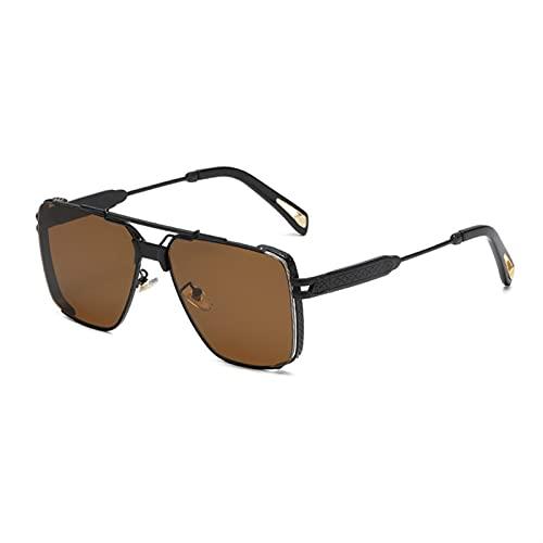 Gafas de sol cuadradas de gran tamaño para mujer, gafas de sol de lujo, de una pieza, para hombres, gafas de sol, espejo UV400 (color: 4, tamaño: G)