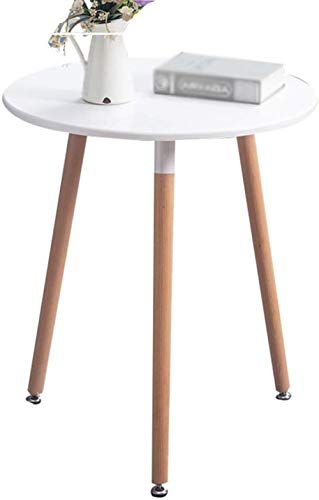 Mesa de té, café Oficina de Mesa de café de Madera pequeña Mesa Redonda Mesa de café Suave Mesa de 60-80 cm de diámetro de negociación Simple (Color : B, Size : 70cm)