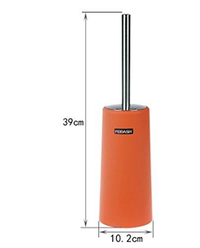 Yiyida Brosse WC avec support et poignée en acier inoxydable 10 cm x 39 cm