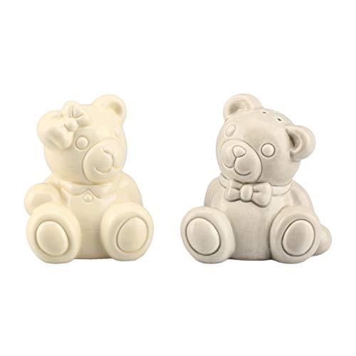 THUN - Set Sale e Pepe Teddy Orsetti Lui e Lei - Ceramica Smaltata - 7 cm h