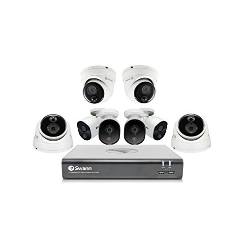 Buy Swann Home Security Camera System, 4 Bullet and 4 Dome Cameras 16 Channel 1080p Wired Surveillan...