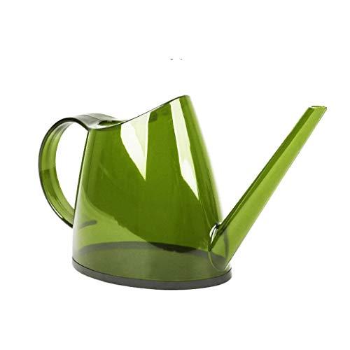 DUOER home Arrosage des Fleurs à l'intérieur de la Bouilloire d'arrosage, arrosoir à Long Bouche Transparente en Verre épais 1.5L (Color : Lime Green, Taille : 34 * 17cm)