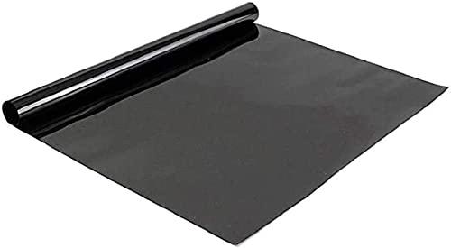 "TRUE LINE Automotive 20% VLT Heat & UV Block Professional Window Tint Sun Visor Windshield Adhesive Film Roll (2Ply Carbon Film IRR 83, 38"" in x 100' Ft)"