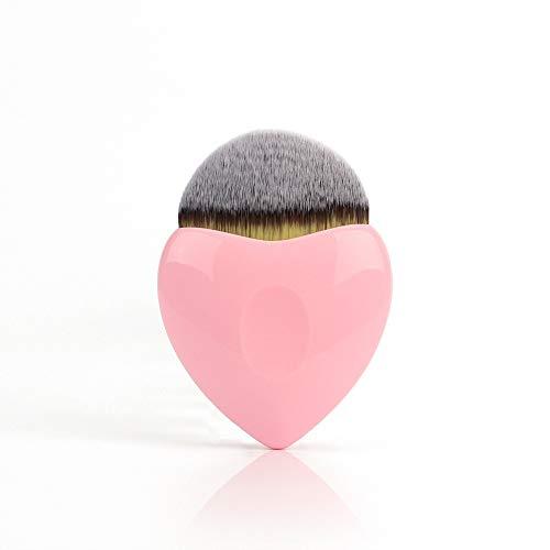 Maquillage Brosse Coeur Forme Fondation Brosse Multifonctionnel Fibre Cheveux Beauté Outil De Maquillage Unique Poignée En Plastique Blush Brosse
