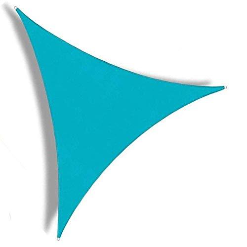 Pantalla de Tela de Fibra Triángulo Anti-UV Sombrilla en Forma de D Pull-Sala de jardín de Habitaciones, 7 Colores, 5 tamaños aycpg (Color : Blue, Size : 3x3x3m)