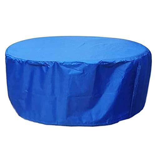 YJHH Funda Muebles Jardin Impermeable Redonda 188x84cm, Funda para Muebles De Jardin, Cubierta De Proteccion para Muebles, a Prueba De Viento Transpirable Resistente Al Desgarro