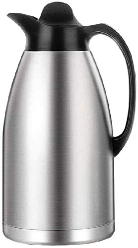 Jarra Térmica cafe Jarra Termo Frasco térmico: jarra de café térmico de acero inoxidable, matraz de vacío con aislamiento de doble pared grande, potencia de servidor de bebidas de retención de calor d