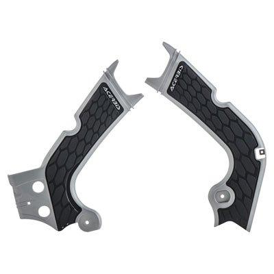 Acerbis X-Grip Frame Guards Silver/Black for Honda CRF250R 2018