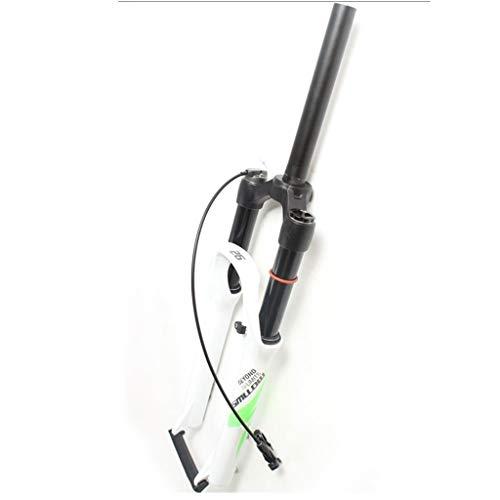 LSRRYD MTB Horquilla Bicicleta 26 27.5 29 In Amortiguador Aire Horquilla Suspensión Bicicleta Tubo Recto 1-1/8' Hombro/Control Remoto Freno Disco Recorrido 120mm QR 9mm