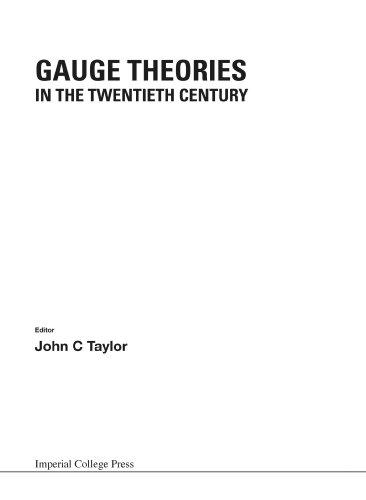 Gauge Theories In The Twentieth Century