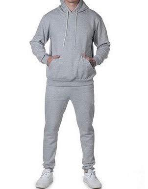 Conjunto Calça e Blusa Frio Moletom Peluciado Masculino (CINZA MESCLA, M)