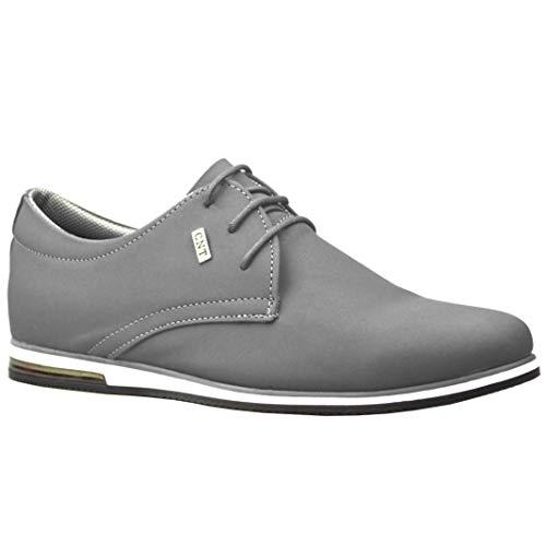 ClassyDude décontractée para Hombre de Ante Smart Formelle–Zapatos con Cordones, Gris (Gris), 45 EU