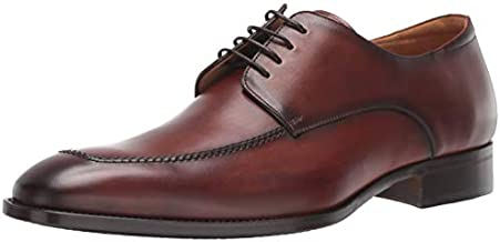 Mezlan Coventry - Mens Luxury Dress Shoes - European Calfskin with Hand Finishes - Handcrafted in Spain - Medium Width (11, Cognac)