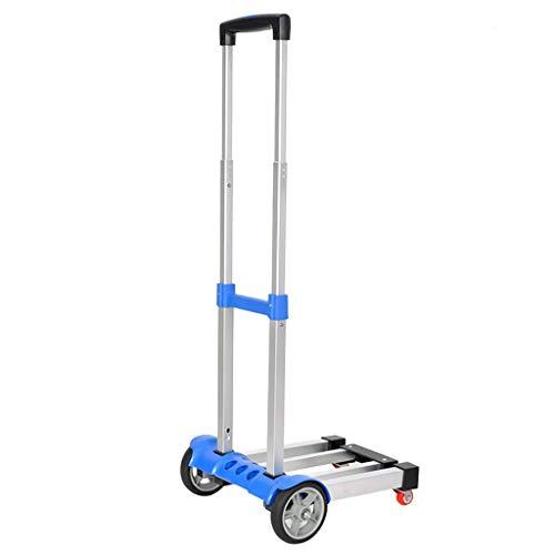 LIPENLI Carrito de la compra de aluminio de aleación de coche carro plegable carro carro portátil carro carro carro carro portátil