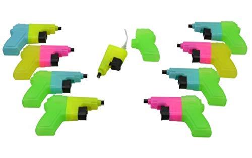 Bada Bing 9er Set Wasserpistole Mini Für Kleinkinder Spritzpistole in trendigen Farben Kindgerecht Wasserspritze Kindergeburtstag ODER JGA 21