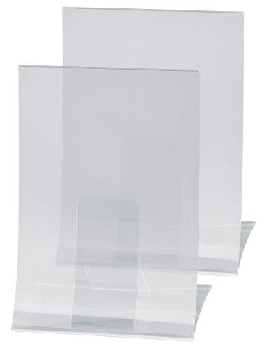 Sigel TA160 Soporte de sobremesa, plegable, plastico duro, para A4, 2 unds.