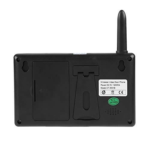 Sistema de intercomunicación con timbre Sistema de intercomunicación con timbre duradero, Timbre inalámbrico(Outdoor doorbell + 2 indoor displays)