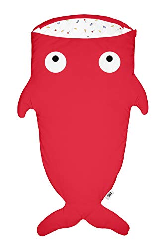 Kids Jongens rode haai slaapzak voor jongens 2-6 jaar, bliksemschichten