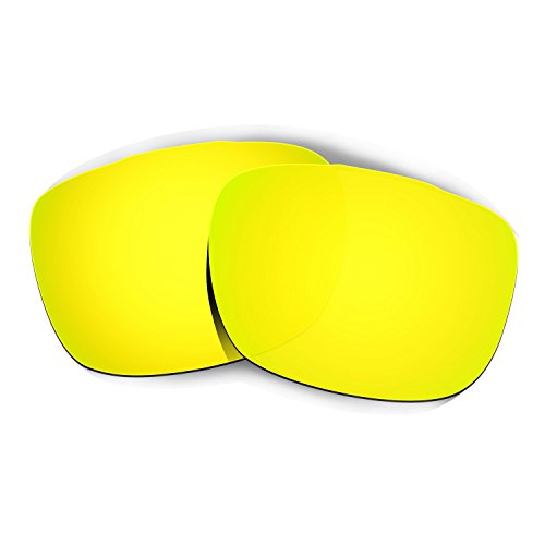 Hkuco Plus Mens Replacement Lenses For Oakley TwoFace Sunglasses 24K Gold Polarized