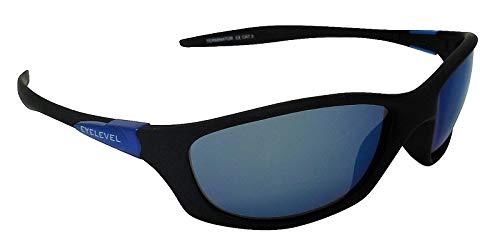 Terminator - Gafas de sol deportivas con espejo azul Cat-3 irrompible UV400